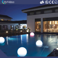 Waterproof IP 65 cordless swimming pool flash white led plastic glowing magic light ball
