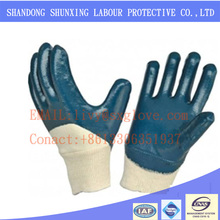 Buy blue nitrile fully coated gloves and go to Alibaba
