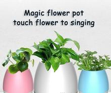 Hot! Creative Pots Smart Music Flower Pot plastic flower pots with bluetooth piano speaker