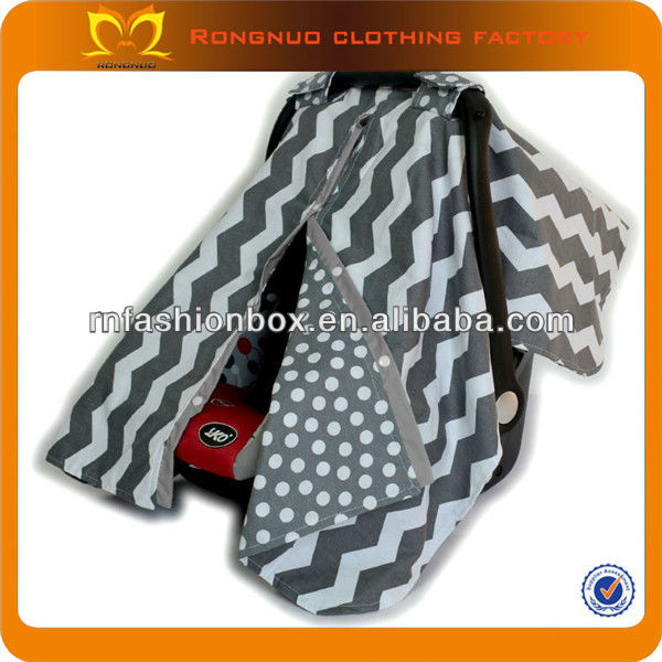 Wholesale graco infant car seat cover funny grey chevron cotton baby seat covers