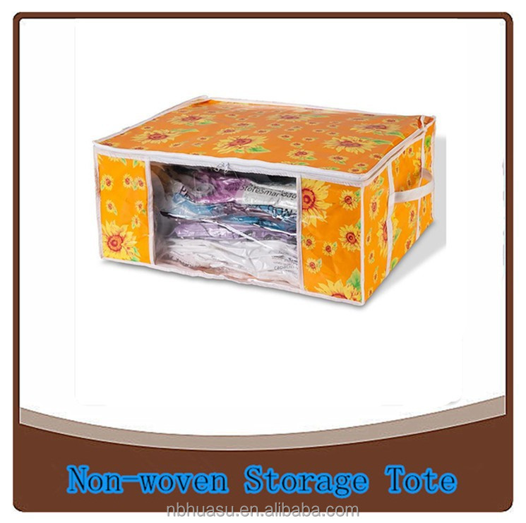 pp non-woven folding home storage organizer box