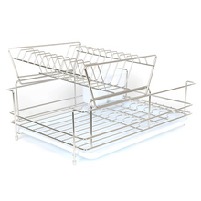 2 layers stainless steel kitchen rack plate holder