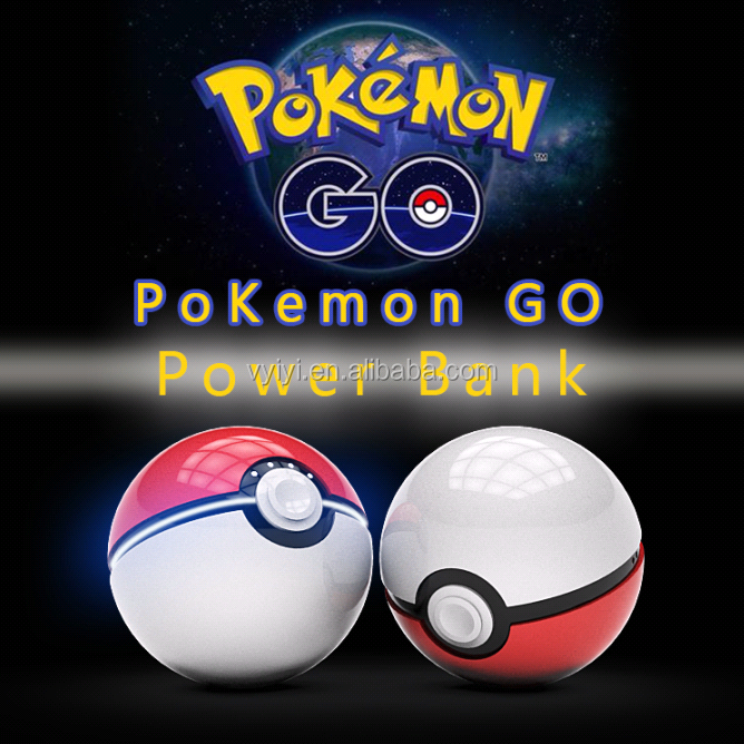 (Good Quality) Hot Gift 12000mAh Pokemon Go Ball Power Bank, Pokeball Power Bank 12000mAh Pokemon Ball Charger Glow in the Dark