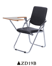 Portable Metal Folding Student Chair Seat Cushions With Writing Pad ZD19B