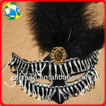 Mini Masquerade Mask With Feather