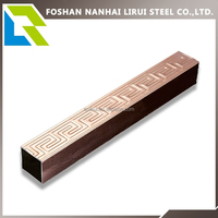 Colored stainless steel square tube