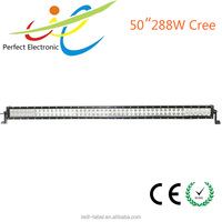 12V/24V 50inch 288W offroad C ree LED light bar,car headlight for offroad ATV truck Boat light