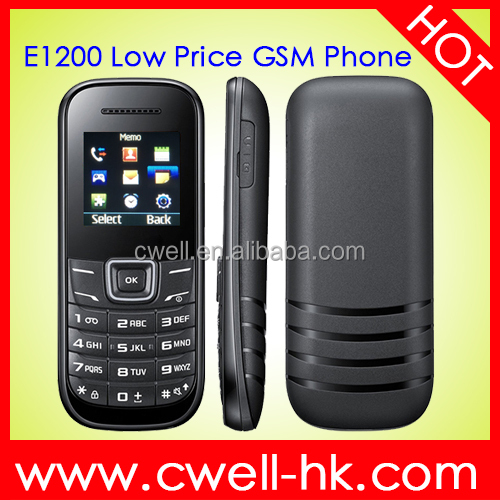 No Camera Mobile Phone E1200 Low Price GSM with good price