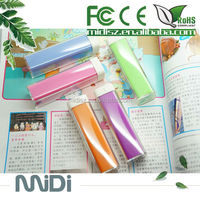 Promotion gift fashion lipstick mini power bank 2600mah cellphone power bank,OEM/ODM service
