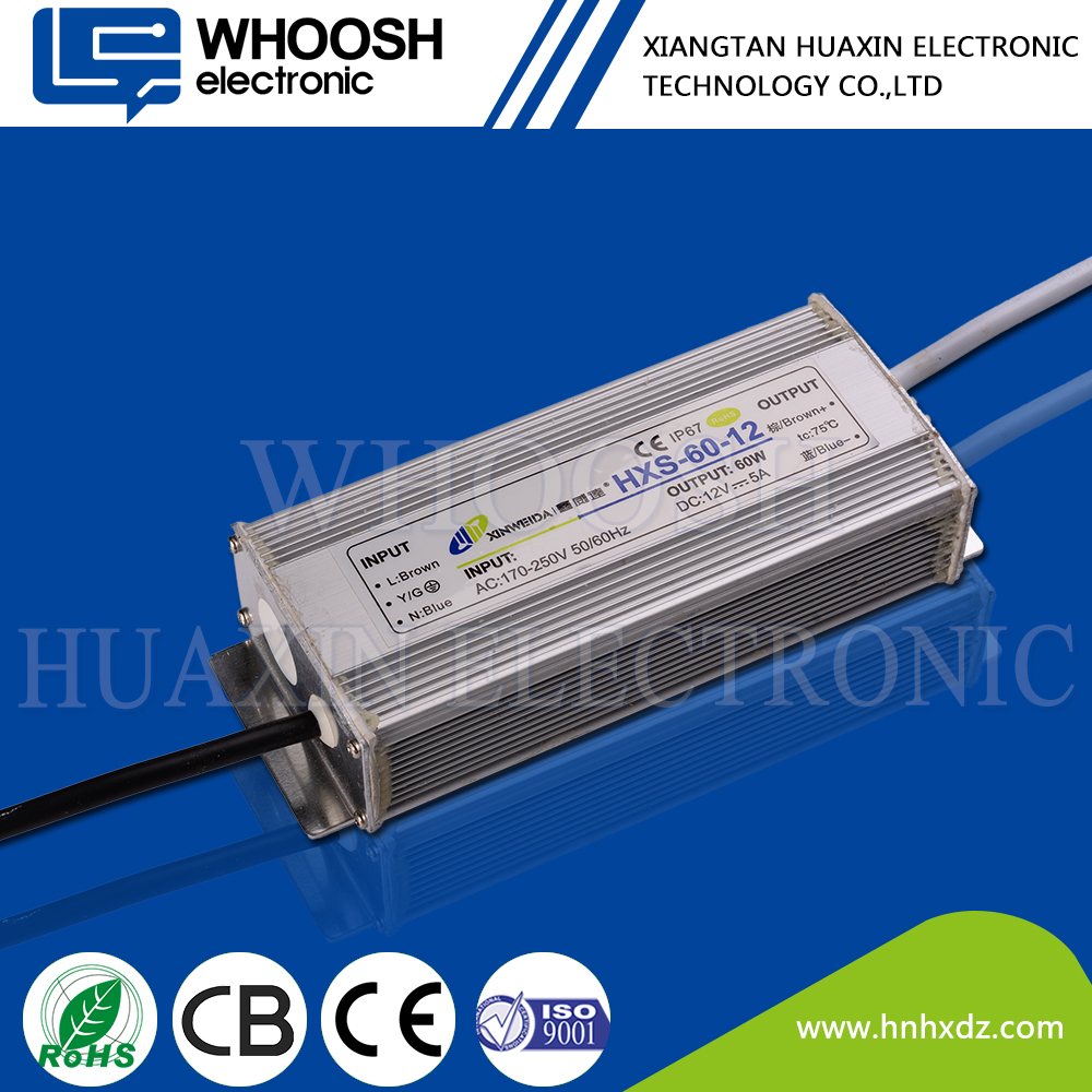power supply 60w 24v 2.5a waterproof led driver transformer