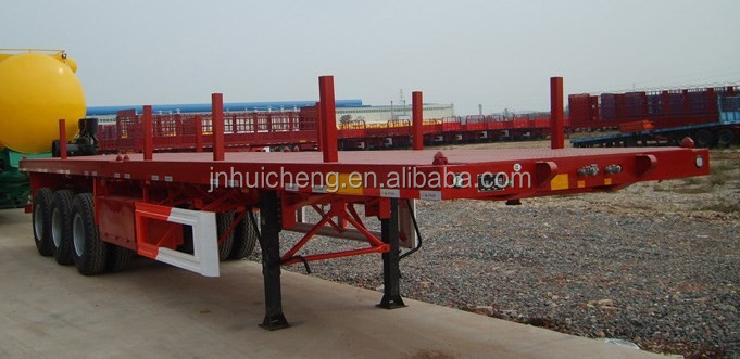 FUWA CIMC 3 axles 48 ft container semi trailer flatbed container chassis parts low price for sale