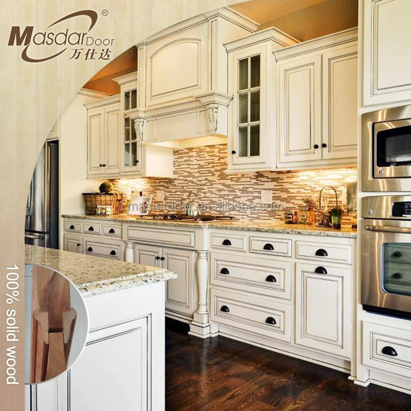 Modern Cherry Wood Kitchen Cabinets: Moderne Stijl Kersenhouten Keuken Kasten-keuken Kasten