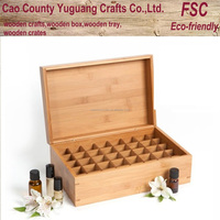 new style large bamboo box for essential oil packaging