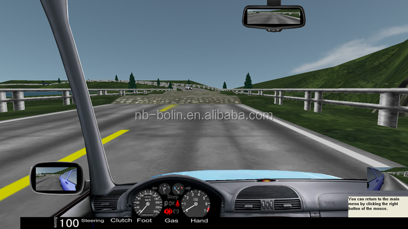 2016 New car driving training simulator