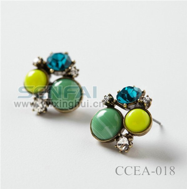 Rainbow Color Pearl Earrings in Wholesale Price