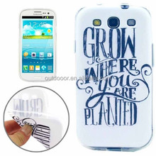 Words Pattern TPU Protective Case for Samsung Galaxy SIII