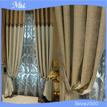 Ready Made Dyed Cheap Decorative Fancy Latest Fashion Designs Curtain 2015