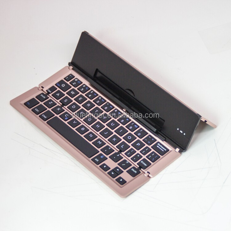Bluefinger Mini Slim Triple Foldable Bluetooth Wireless Keyboard For Windows OS Apple Mac Android System