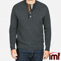 Button Mock Wool Sweater Fashion Sweater For Men