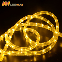 18leds/m IP65 RGB 2 wires Round Horizontal LED Rope Light 110V 220V