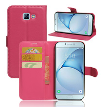 Wallet Credit Card Slot TPU Pu Leather Moblie Case For Samsung Galaxy A8