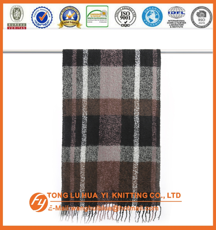 Promotion woven 100% acrylic military fashion scarf 100% cotton