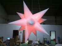 Most popular inflatable lighting polygonal star for bar decoration