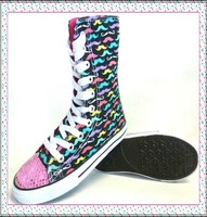 High Quality High Cut Girl Canvas Shoes For OEM Orders