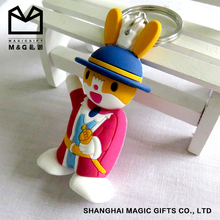High quality soft pvc 2d Rabbit keychain for promotion