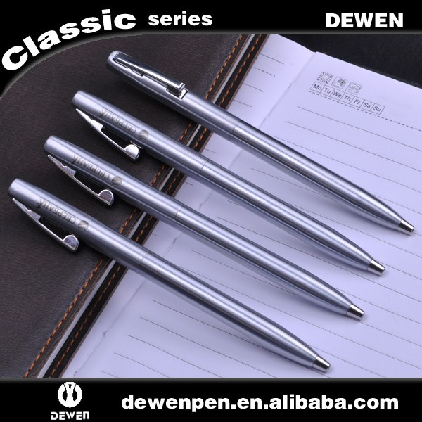 Shiny silver Metal Ball pen ballpoint pen for promotional gift