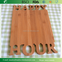 HAPPY HOUR Bamboo Cutting & Serving Board, Bamboo Carving Board from BSCI audited factory