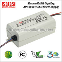 Meanwell APV-12-24 (12W 24V 0.5A) 12W Single Output 24V Constant Voltage LED Driver Power Supply