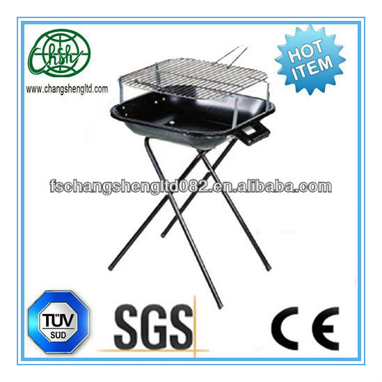 simple suqare enamel fire bowl folding charcoal barbecue