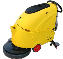 automatic walk-behind electric floor scrubber ceramic tile floor cleaning machine