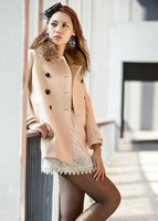D60621A 2013 NEW WOMEN'S WINTER WHOLESALE KOREAN FASHION DOUBLE-BREASTED WOOL COAT LONG PARAGRAPH COCOON COAT