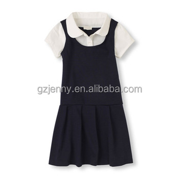 Drop Waist Dress Uniform Primary School Uniform for Girls