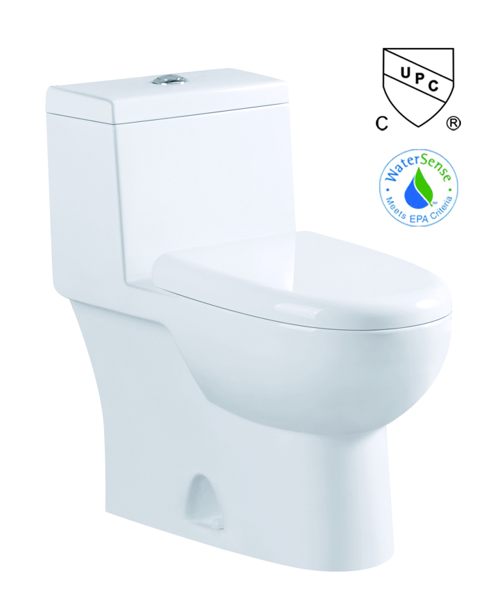 cUPC lined tank hidden cameras one piece toilet meet with USA market
