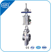 Casting Steel Flange Joint Air Operated Pneumatic Flat Plate Gate Valve