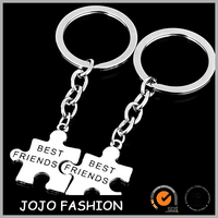 Custom Made New Product Latest Design Irregular Metal best friend keychain
