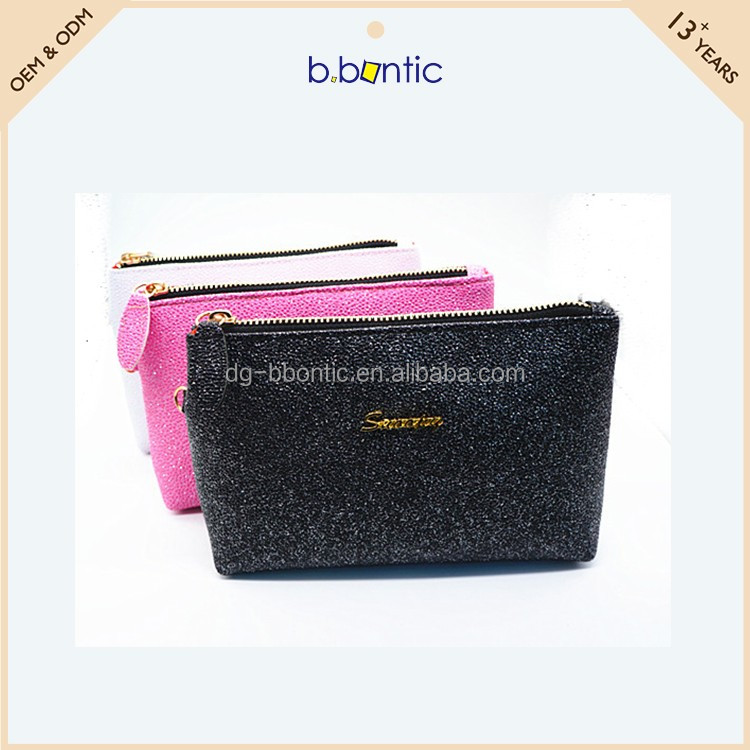 ladies small PU leather make up pouch for cosmetic