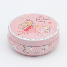 Wholesale Cookies Dessert Biscuit Mooncake Round Candy Metal Tin Box For Cake