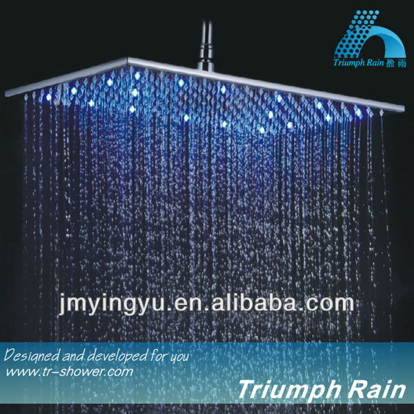 JFQ046CP top luxury shower head with led light