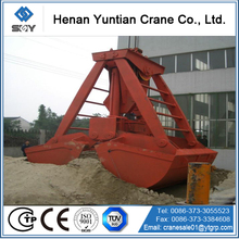 Metal,waste iron loading four ropes grab bucket