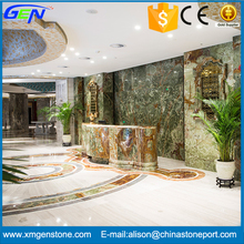Competitive Price Beautiful Dark Green Onyx Slab For Indoor Decoration