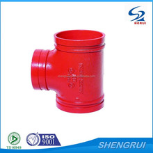 Ductile Iron Grooved Pipe Fitting Threaded Reducing Tee