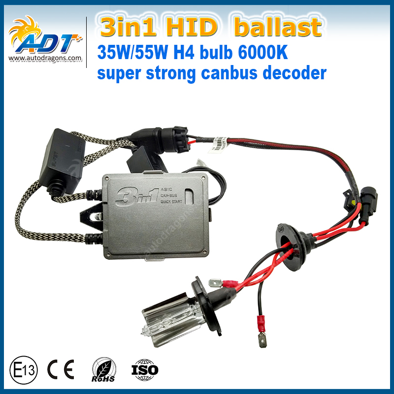 2017 Wholesale AC 12V 35W 55W hid can bus xenon kit H4 high low beam dual beam