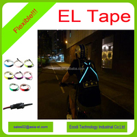Manufacturer flexible el light up tape with long lifetime and high brightness for decoration
