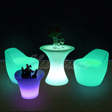 Lovely waterproof led modern children plastic chairs,children table chairs set for decoration