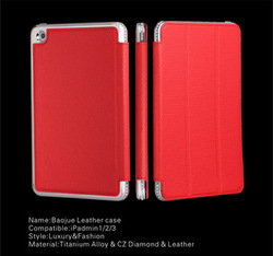 China supplier High quality rose universal leather case for ipad mini