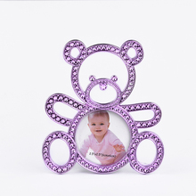 High quality new design custom animal bear plastic baby photo frame